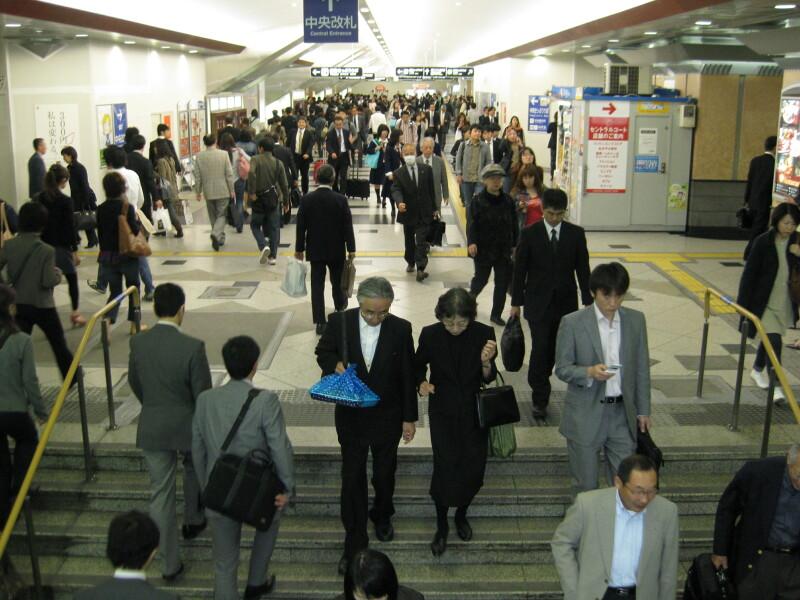 The Osaka central station
