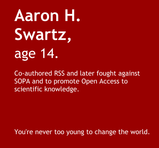 Aaron Swartz Google Science Fair